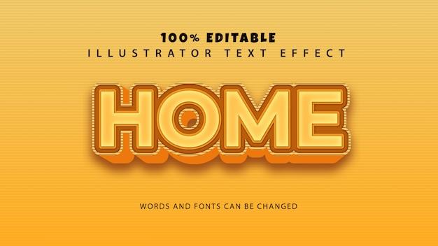 홈 텍스트 스타일 효과, 편집 가능한 텍스트