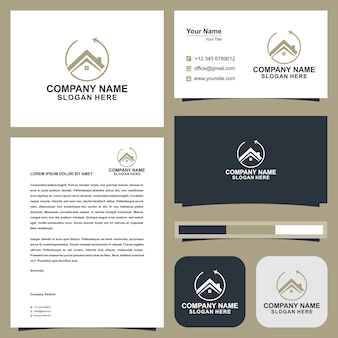 Home tour logo and business card