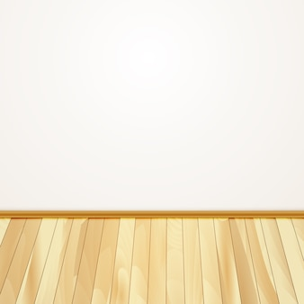 Home wall with wooden floor
