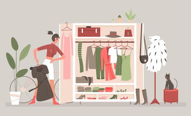 Домашняя гардеробная комната для одежды