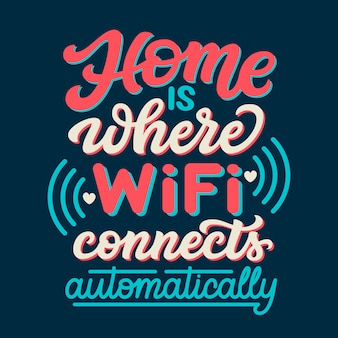 Home wifi lettering