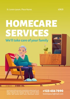 홈 케어 서비스 포스터.