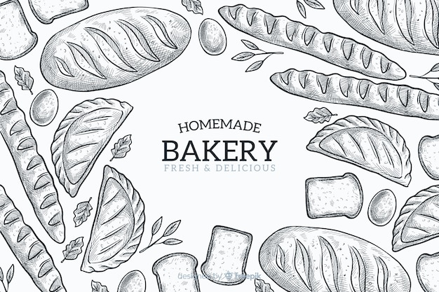 Homemade bakery background