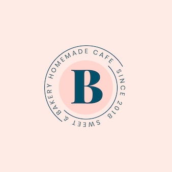 Homemade bakery logo badge design