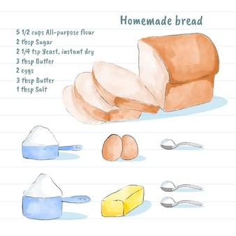 自家製パンのレシピデザイン