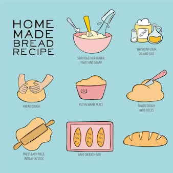 Homemade bread recipe illustration