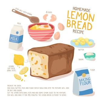 ステップを使った自家製パンのレシピ