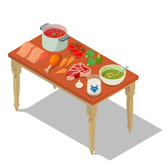 Homemade food concept scene