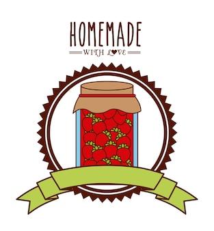 Homemade jam design, vector illustration eps10 graphic