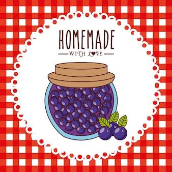Homemade jam design