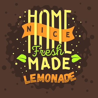 Homemade lemonade typographic  design
