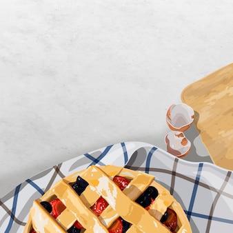 Домашний ягодный пирог
