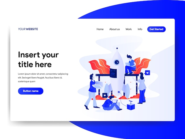 Homepage design of startup business concept