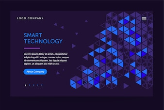 Homepage template for computer technology website