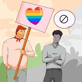Homophobia concept
