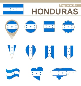Honduras flag collection, 12 versions