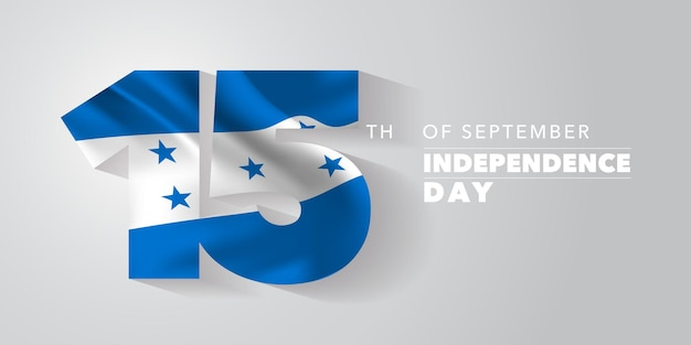 Honduras happy independence day greeting card banner vector illustration