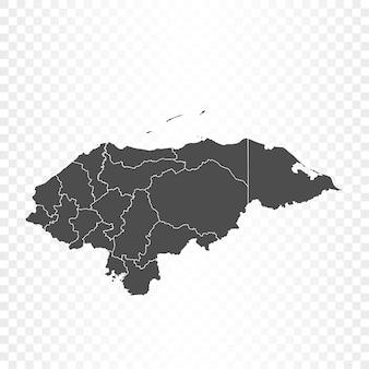 透明な背景にホンジュラスの地図