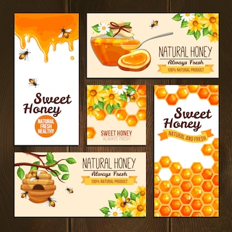 Honey advertising banners