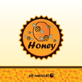 Honey badge and label.