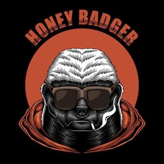 Honey badger eyeglasses