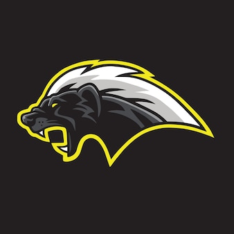 Honey badger mascot logo template vector