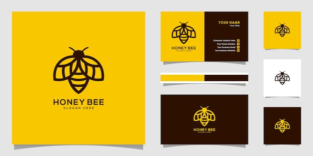 Honey bee animals logo