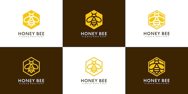 ミツバチの動物のロゴ