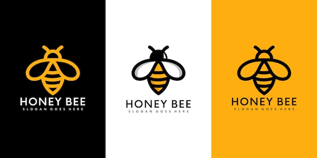 꿀 꿀벌 동물 로고