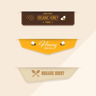 Honey bee label and banner.