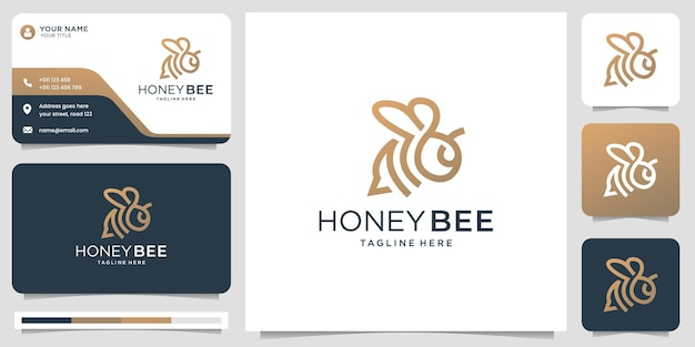 Honey bee line and business card