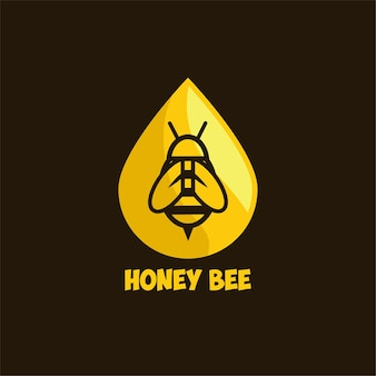 Honey bee logo template