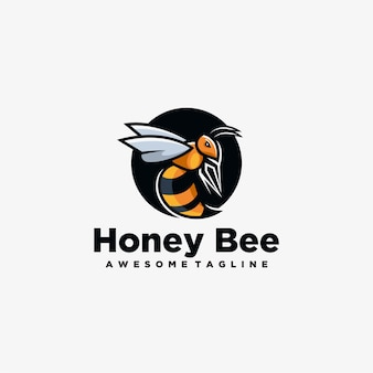 Honey bee mascot logo design