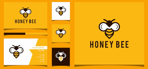 Дизайн логотипа honey bee