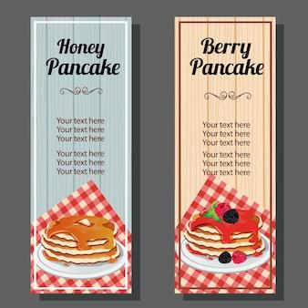 Honey and berry pancake banner