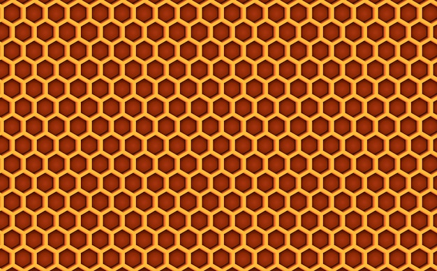 Honey comb beehive seamless pattern textured.