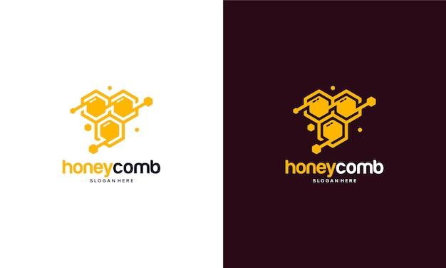 Шаблон логотипа мед гребешок