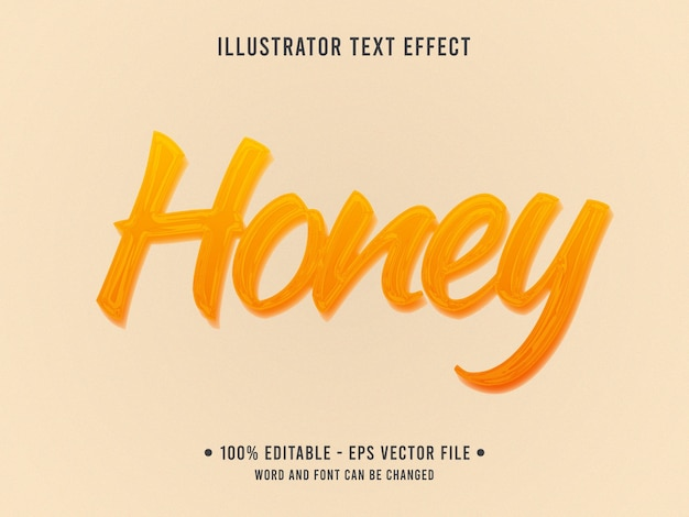 Honey editable text effect template