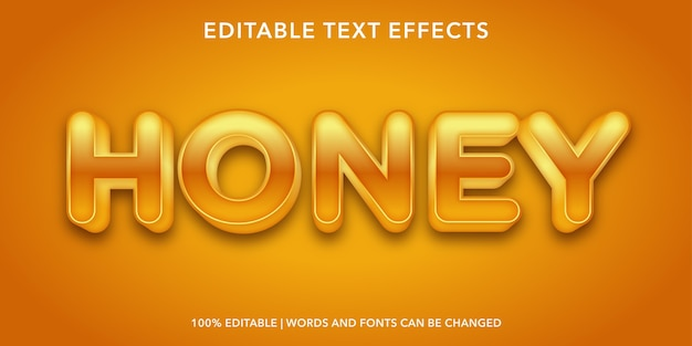 Honey editable text effect