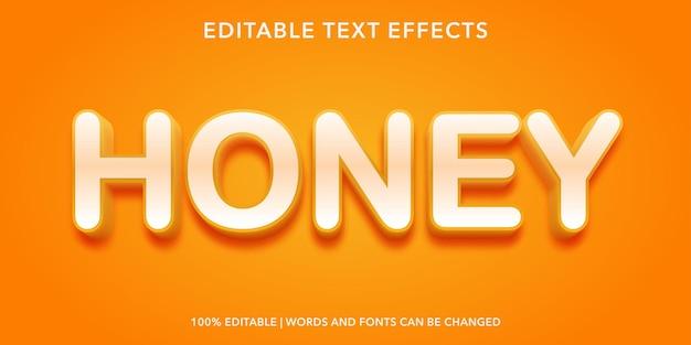 Honey editable text effect