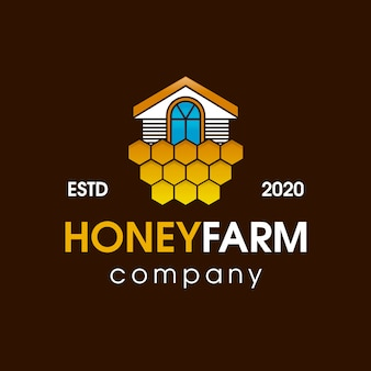 Honey farm house logo design