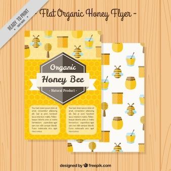 Honey flyer in flat design