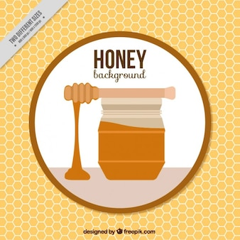 Honey jar background