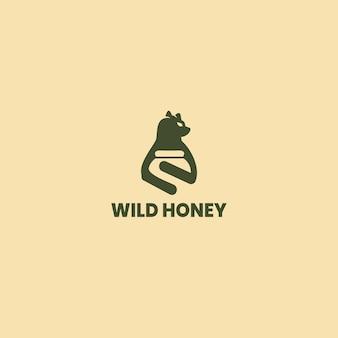 꿀 라벨 디자인입니다. 유기농 꿀 제품, 패키지 디자인에 대한 개념.