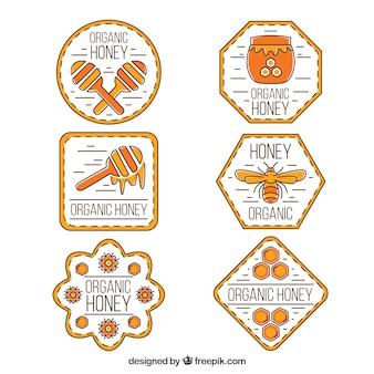 Мед этикетки коллекция