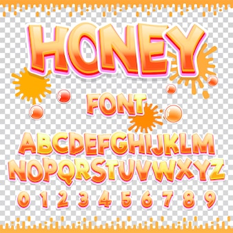 Honey latin font design