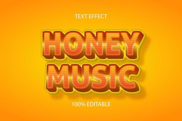 Цвет медовой музыки оранжевый редактируемый текстовый эффект