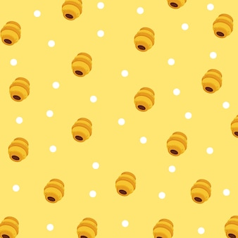 Honey pattern background