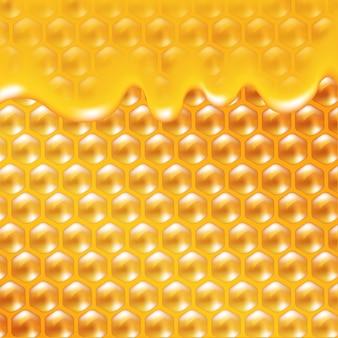 Медовый плакат градиентной сетки, иллюстрации