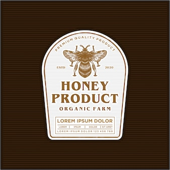 Honey product logo label design